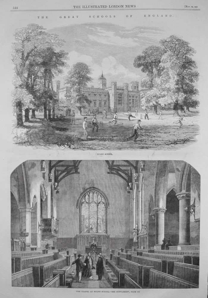 Great Schools of England : Rugby. 1862