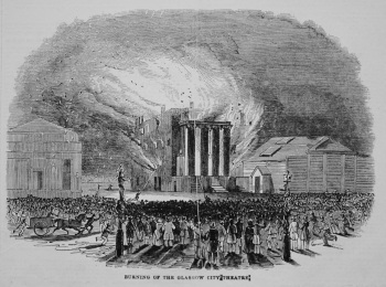 Burning of the Glasgow City Theatre. 1845