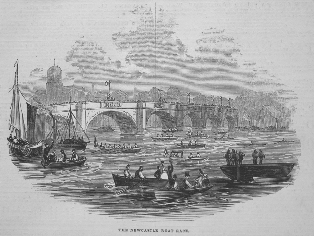 The Newcastle Boat Race. 1845