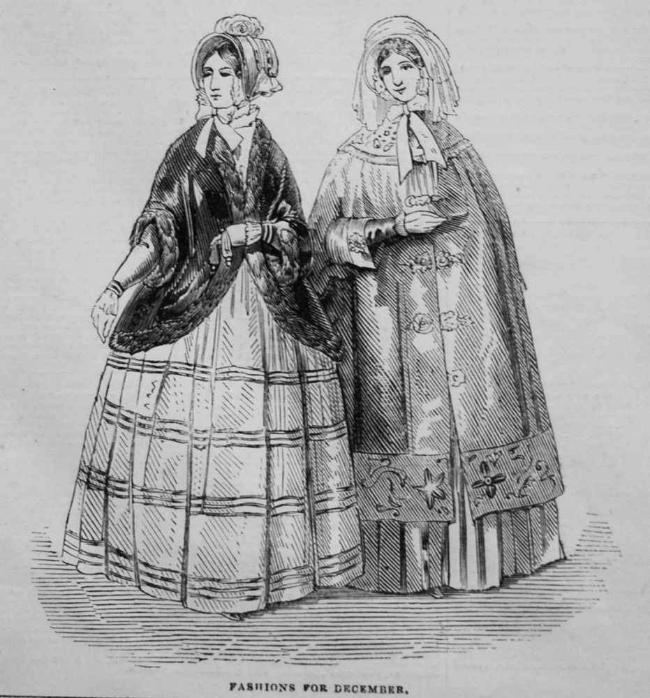 Fashions for December. 1845