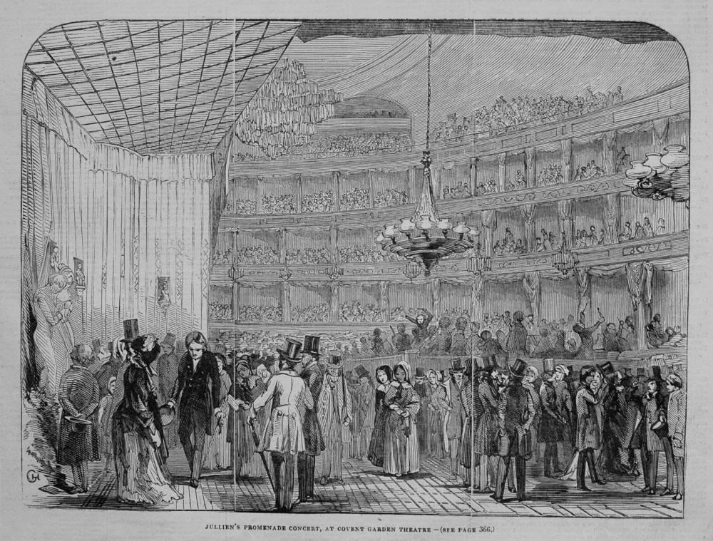 Jullien's Promenade Concert, at Covent Garden Theatre. 1845