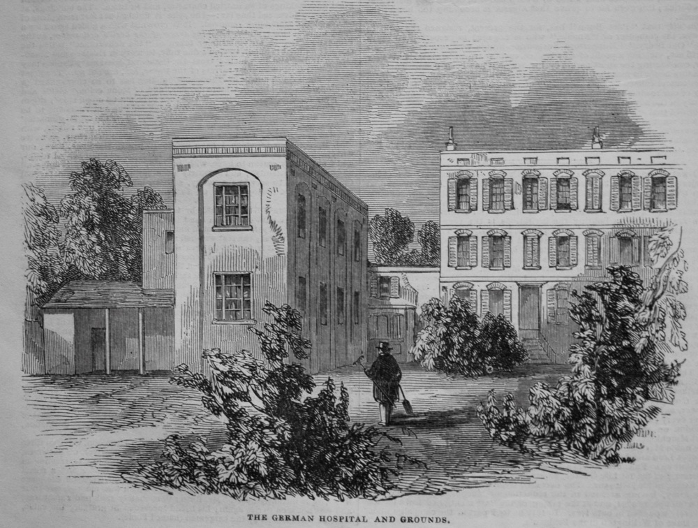 Opening of the German Hospital, at Dalston. 1845