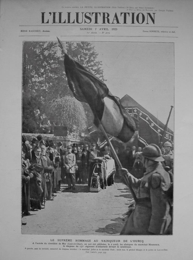 L'Illustration. 7th, April 1923.