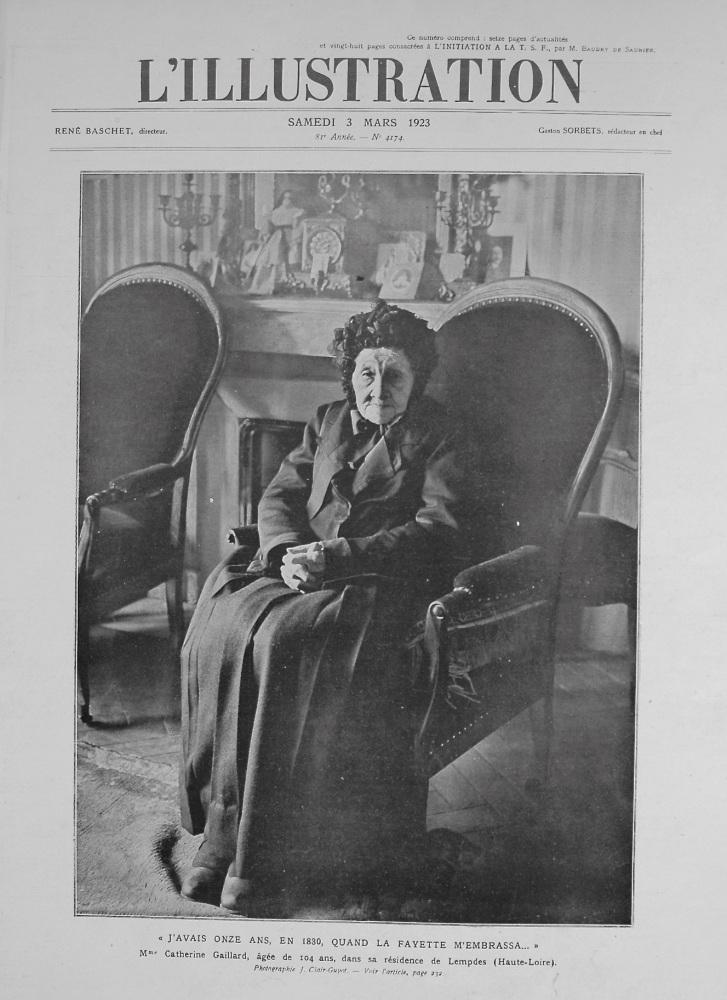 L'Illustration. March 3rd. 1923.