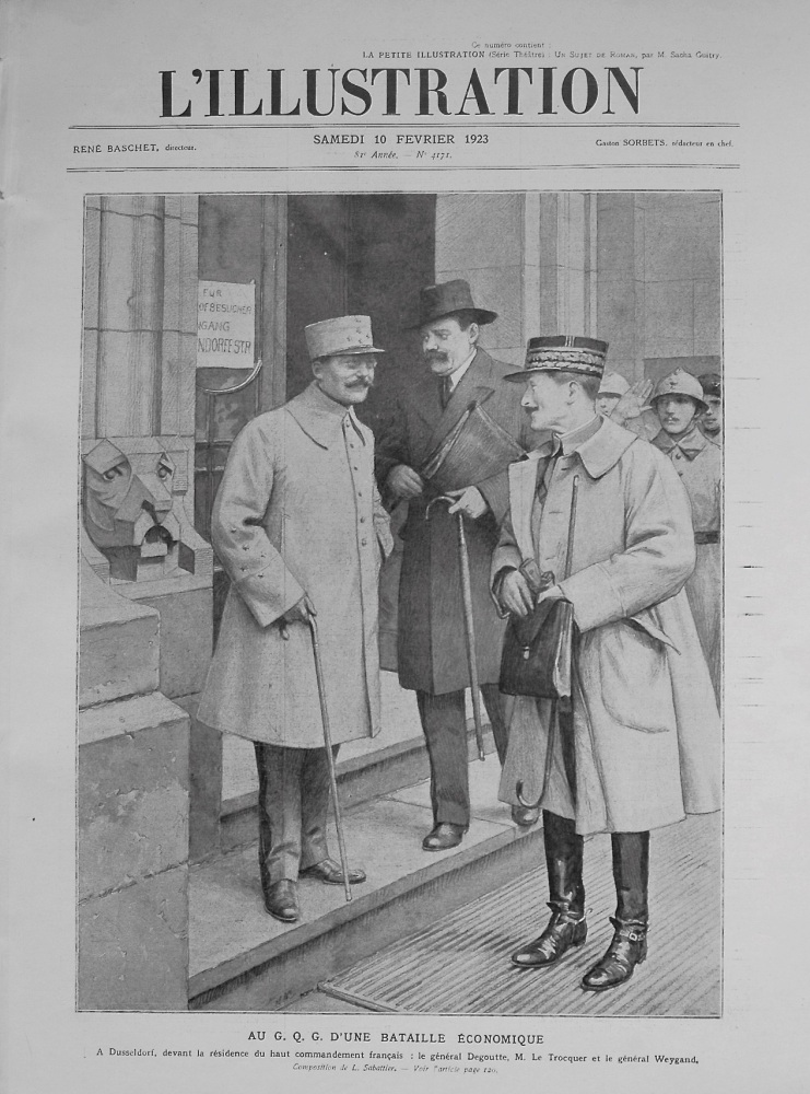L'illustration. February 10th. 1923.