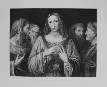 Christ Reasoning With The Pharisees. 1849