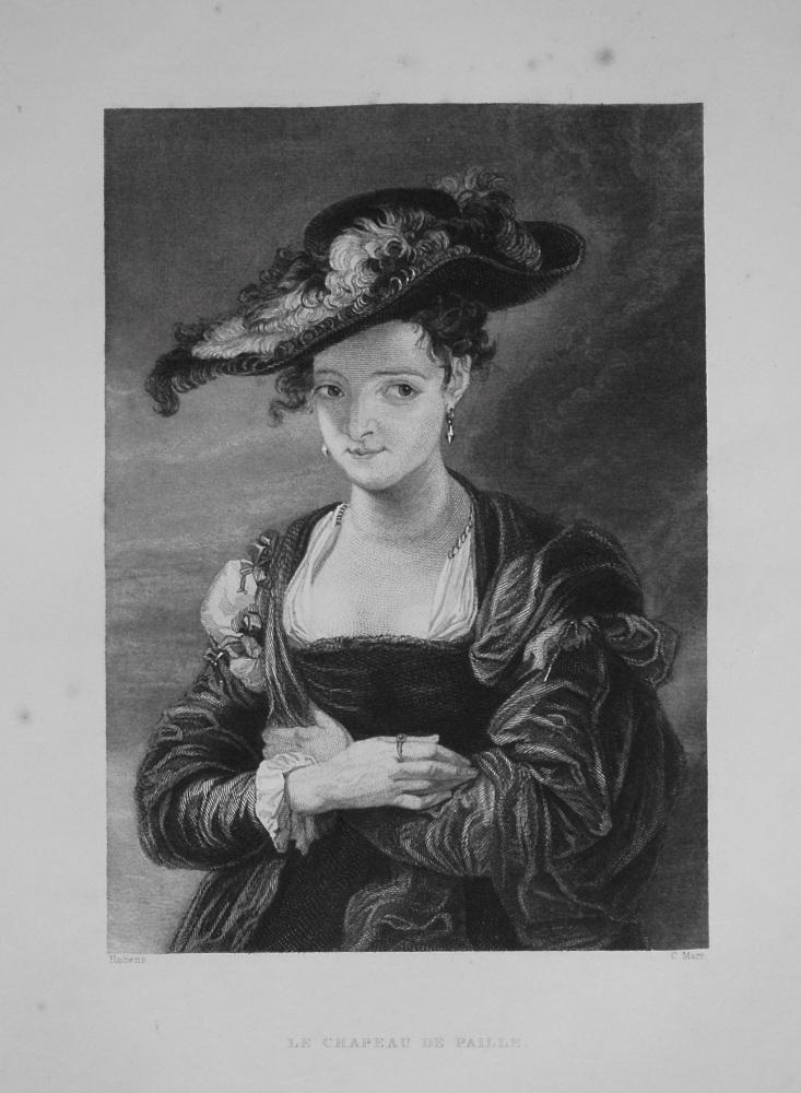 Le Chapeau De Paille. 1849