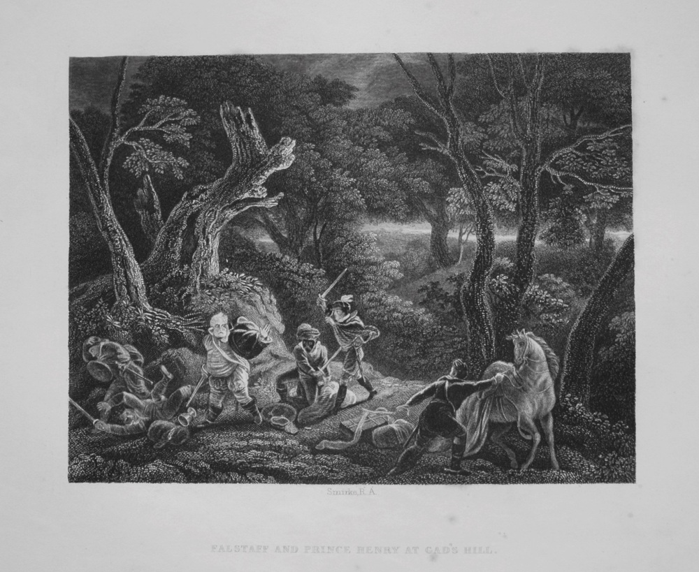 Falstaff And Prince Henry At Gad's Hill. 1849