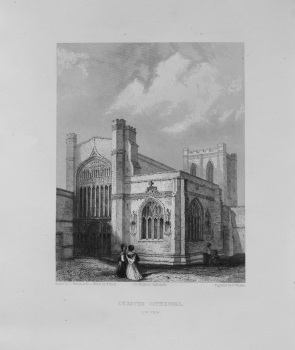 Chester Cathedral. (S.W. View)