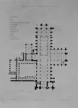 Ground Plan of Chester Cathedral. 1836.