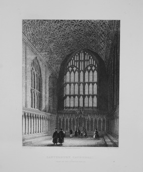 Canterbury Cathedral (View of the Chapter House)