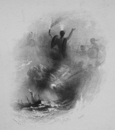 A Tempest. Voyage of Columbus. 1833
