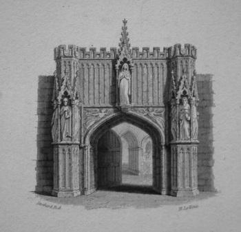 A Convent-Gate. 1833.