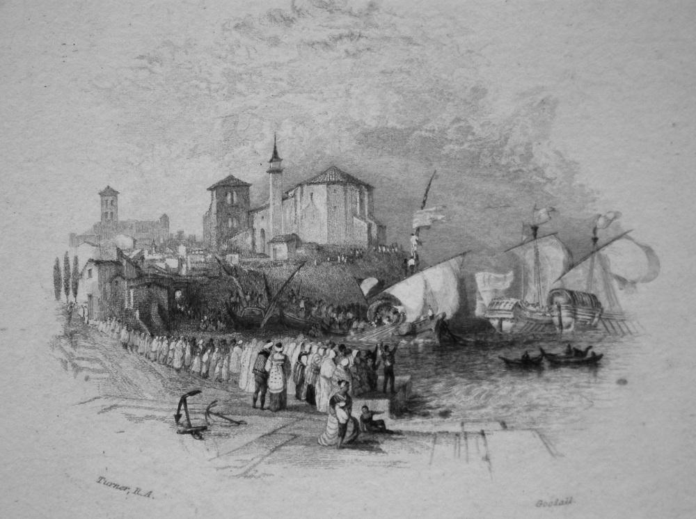 Columbus Setting Sail. 1833