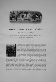 Fox-Hunting in East Anglia. Written by P.G. Barthropp.