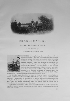 Drag-Hunting. By Mr. Voltelin Heath. 1912