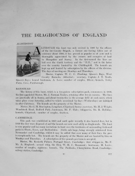 Draghounds of England. 1912