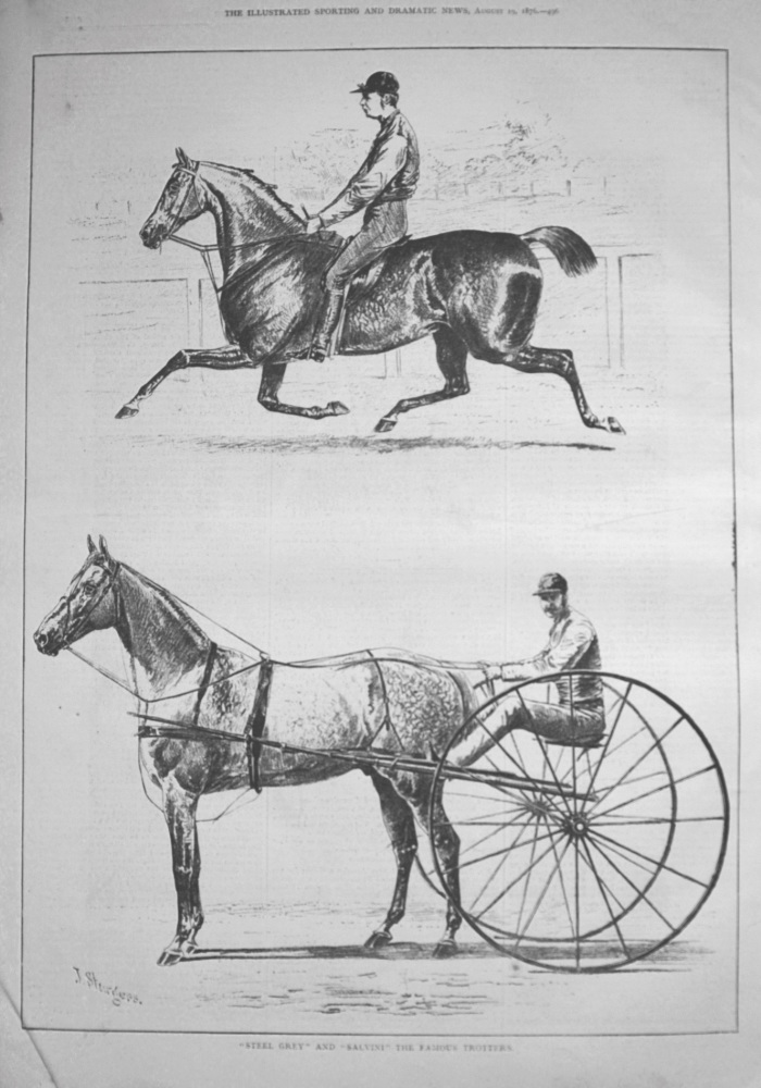 """Steel Grey"" and ""Salvini"" the Famous Trotters. 1876"