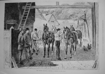 The Change - Finishing Touches.- A Sketch on the Road. 1876.
