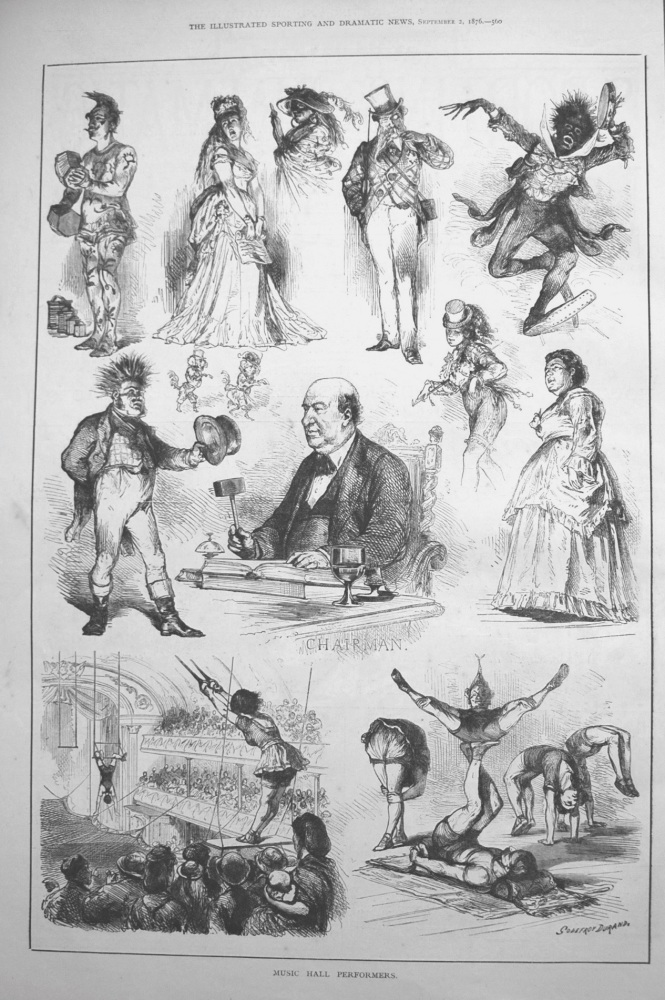 Music Hall Performers. 1876