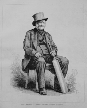 Tommy Marshall, a Veteran North Country Cricketer. 1876