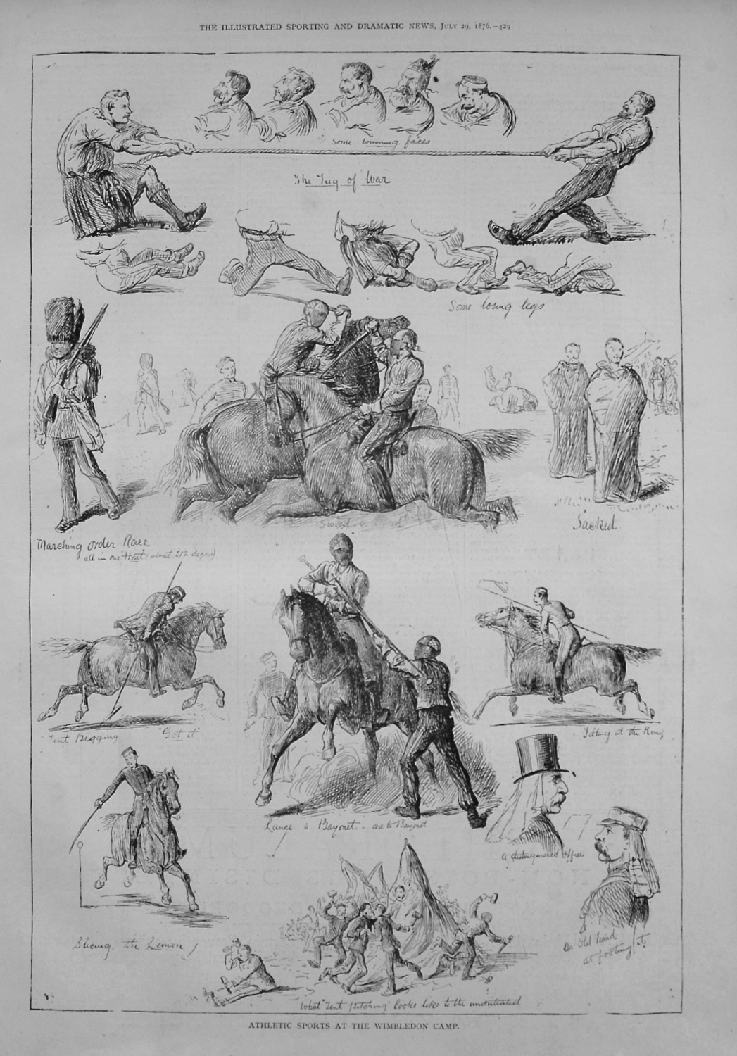Athletic Sports at the Wimbledon Camp. 1876