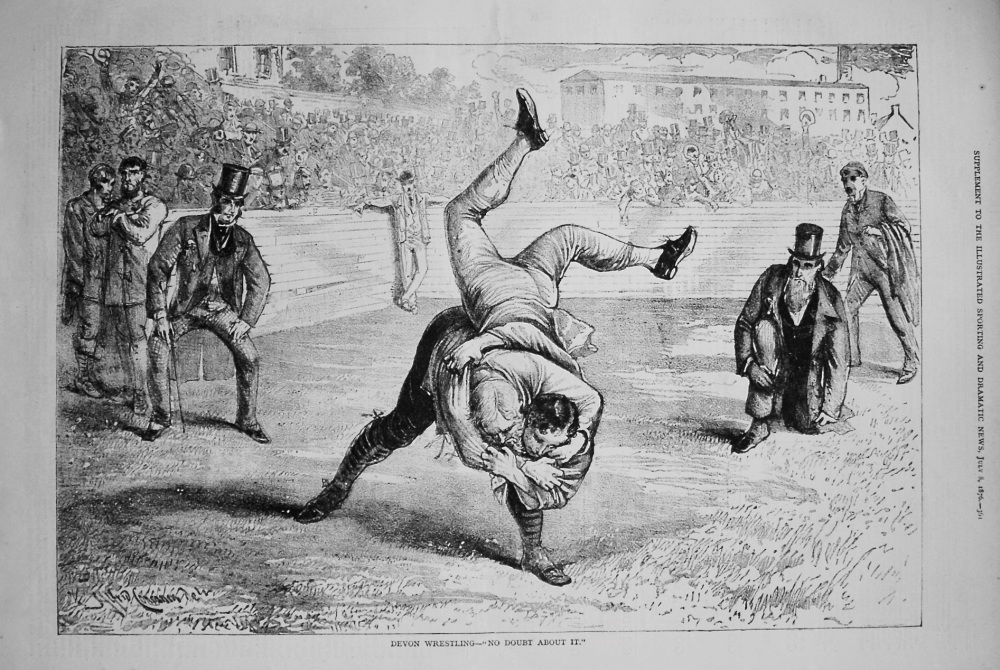 "Devon Wrestling- ""No Doubt About It."" 1876"