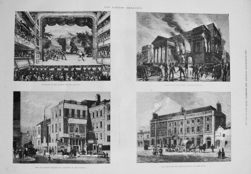 Old London Theatres. 1876