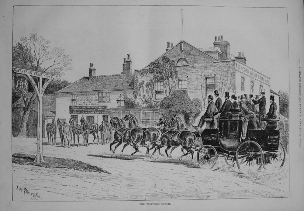 The Watford Coach. 1876.