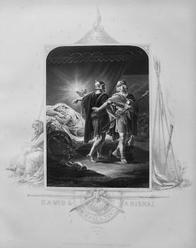 David & Abishai in Saul's Tent.