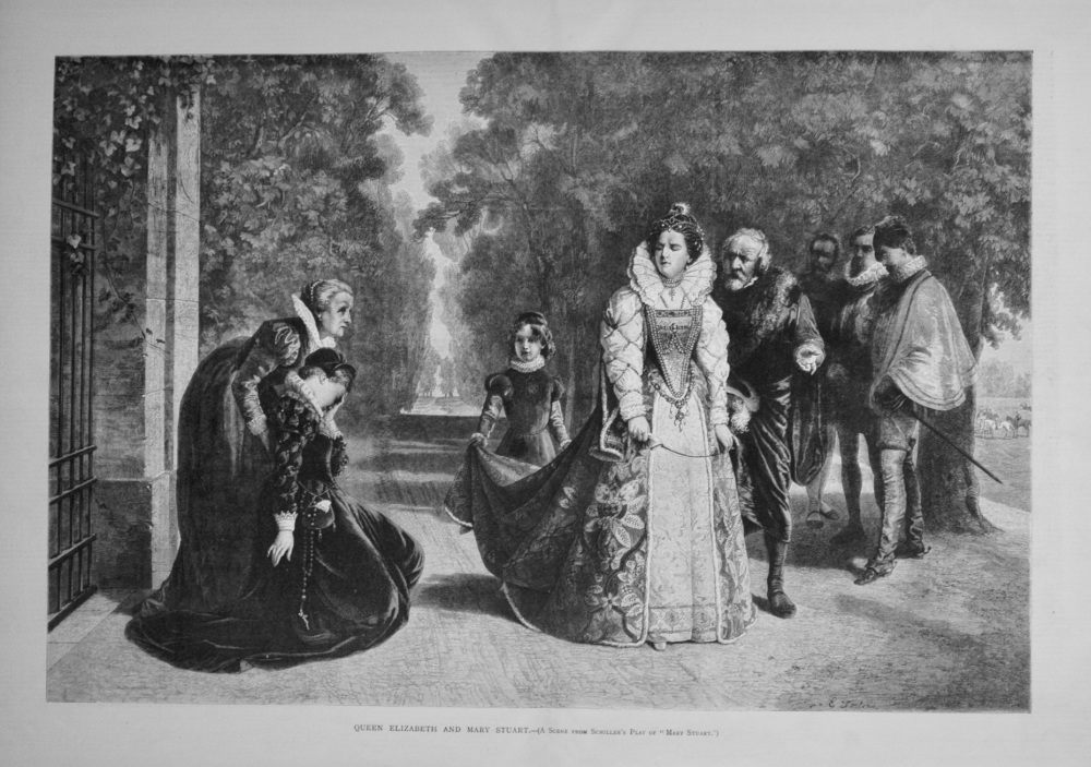 Queen Elizabeth and Mary Stuart. 1876