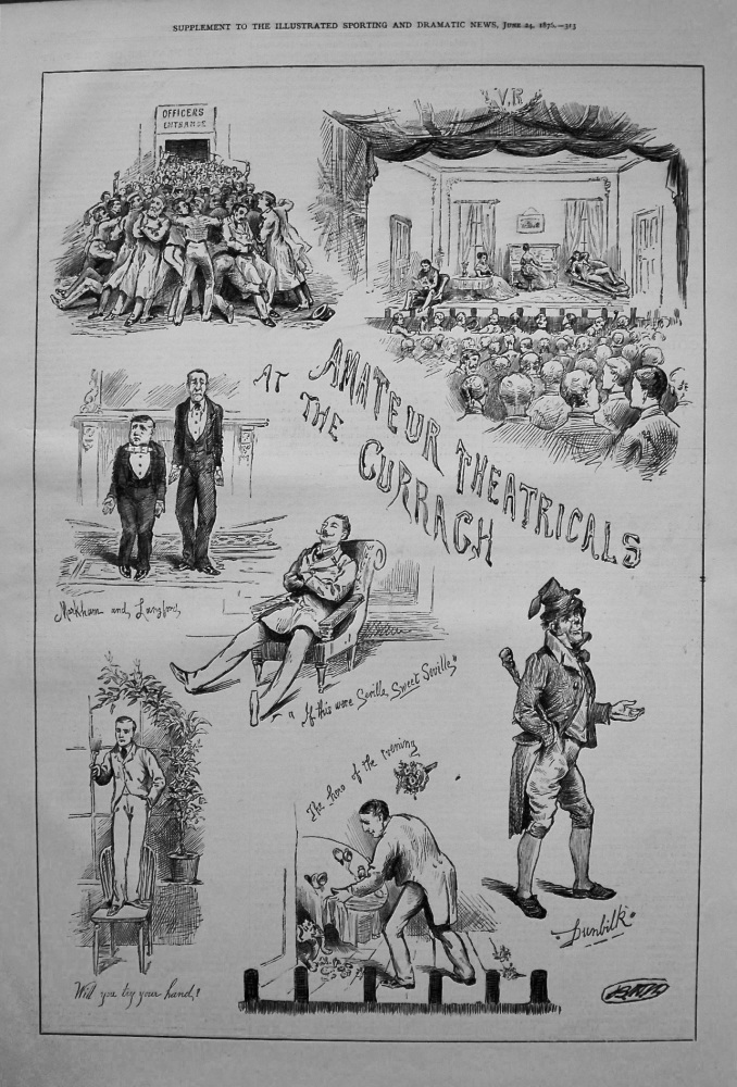 Amateur Theatricals at the Curragh. 1876