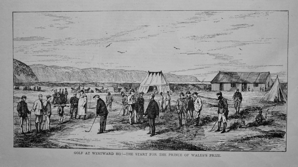 Golf at Westward Ho! - The Start for the Prince of Wales's Prize. 1876