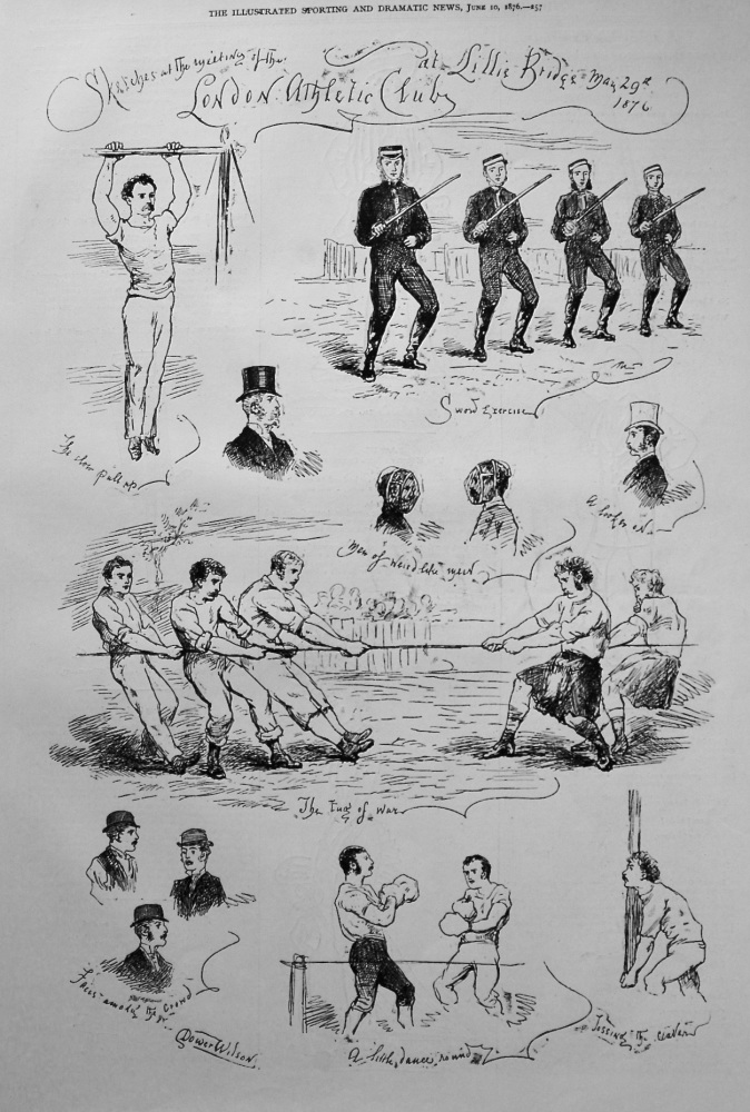 Sketches at the Meeting of the London Athletic Club at Lillie Bridge May 29th, 1876.
