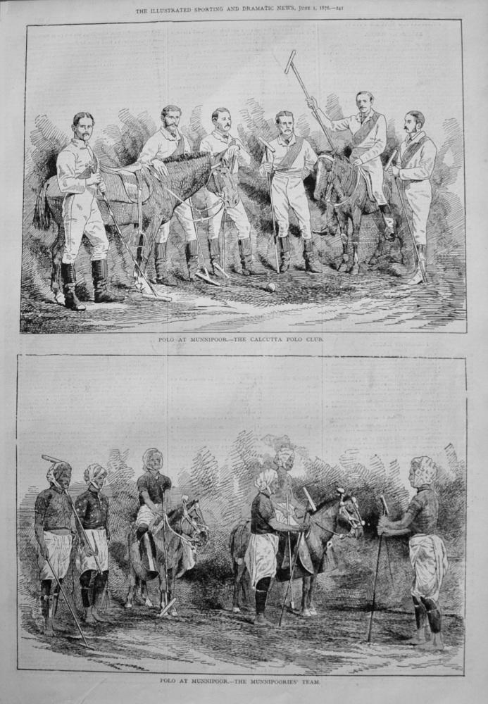 Polo at Munnipoor. 1876