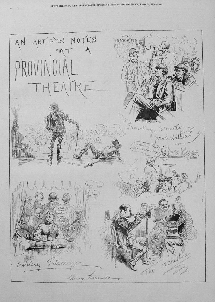 An Artists Notes at a Provincial Theatre. 1876