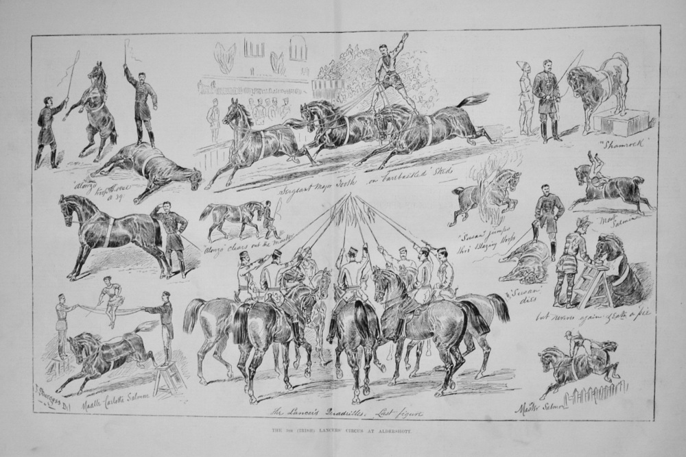 The 5th (Irish) Lancers' Circus at Aldershott. 1876