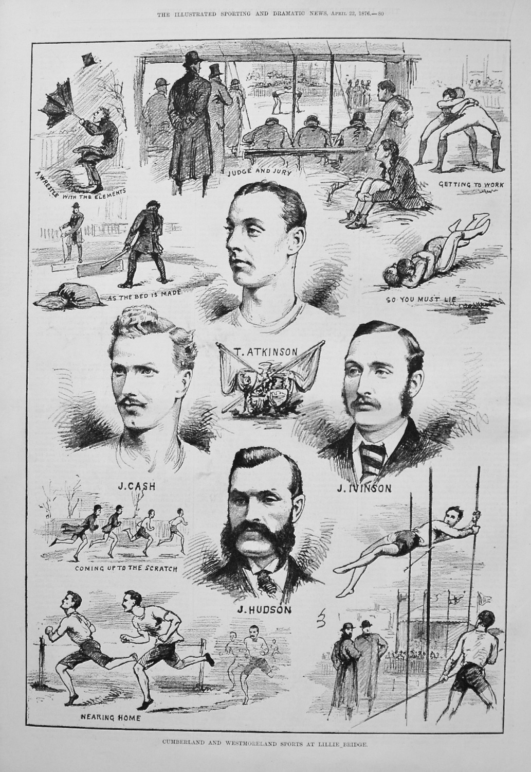 Cumberland and Westmoreland Sports at Lillie Bridge. 1876