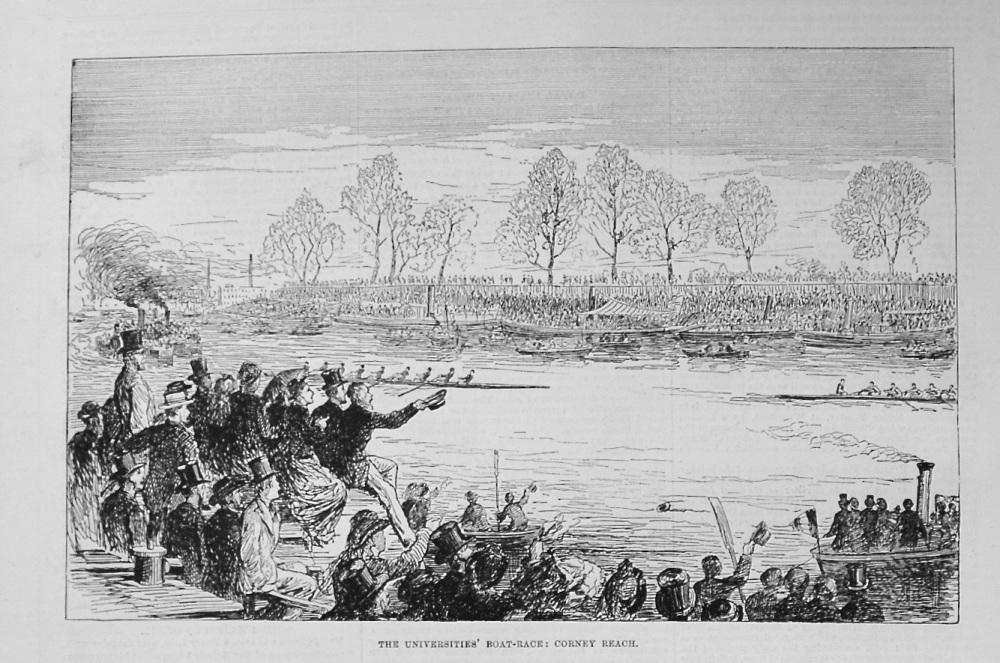 The Universities' Boat-Race : Corney Reach. 1876