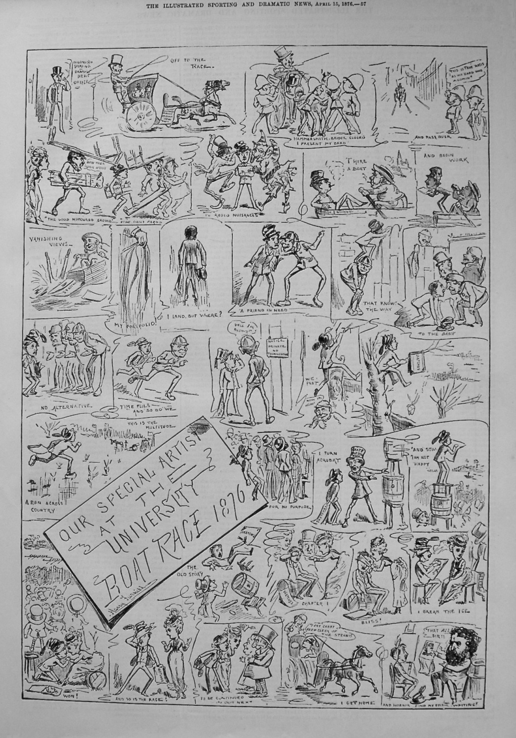 Our Special Artist at the University Boat Race 1876