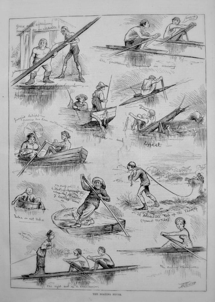 The Boating Fever. 1876