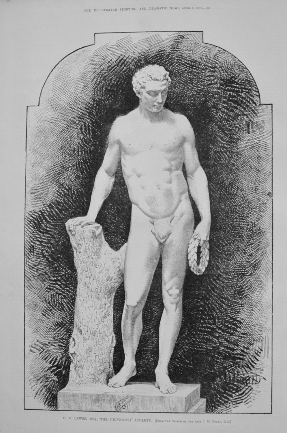 C. B. Lawes, Esq., the University Athlete. (From the Statue by the Late J.