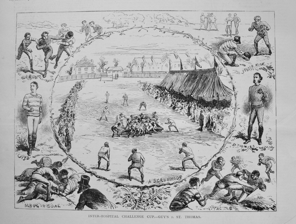 Inter Hospital Challenge Cup.- Guy's v. St. Thomas. (Rugby.) 1877