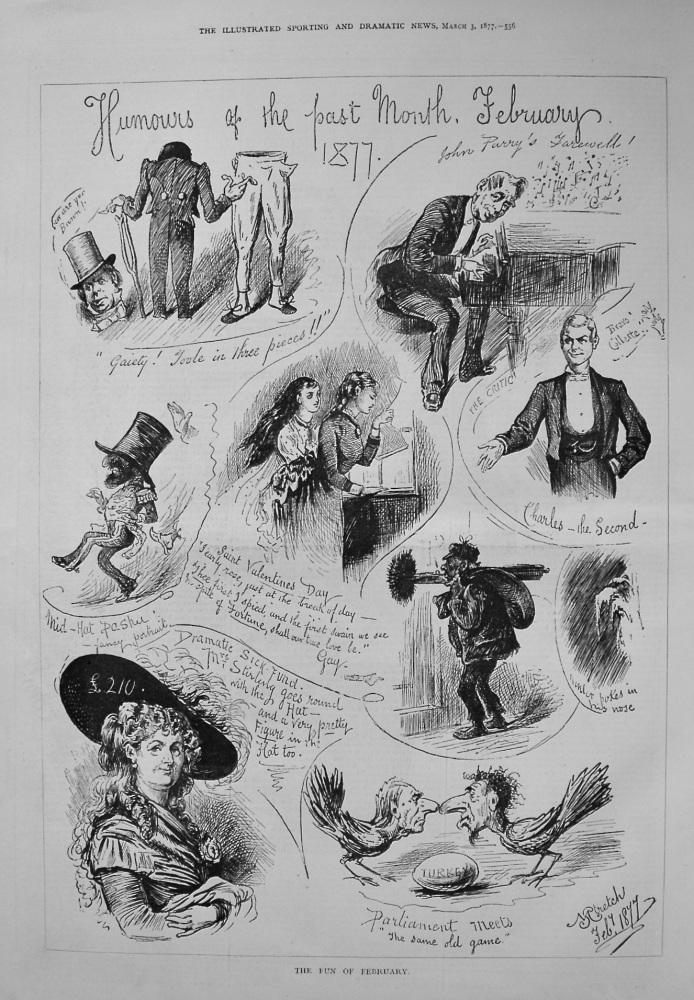 Humours of the Past Month February 1877.