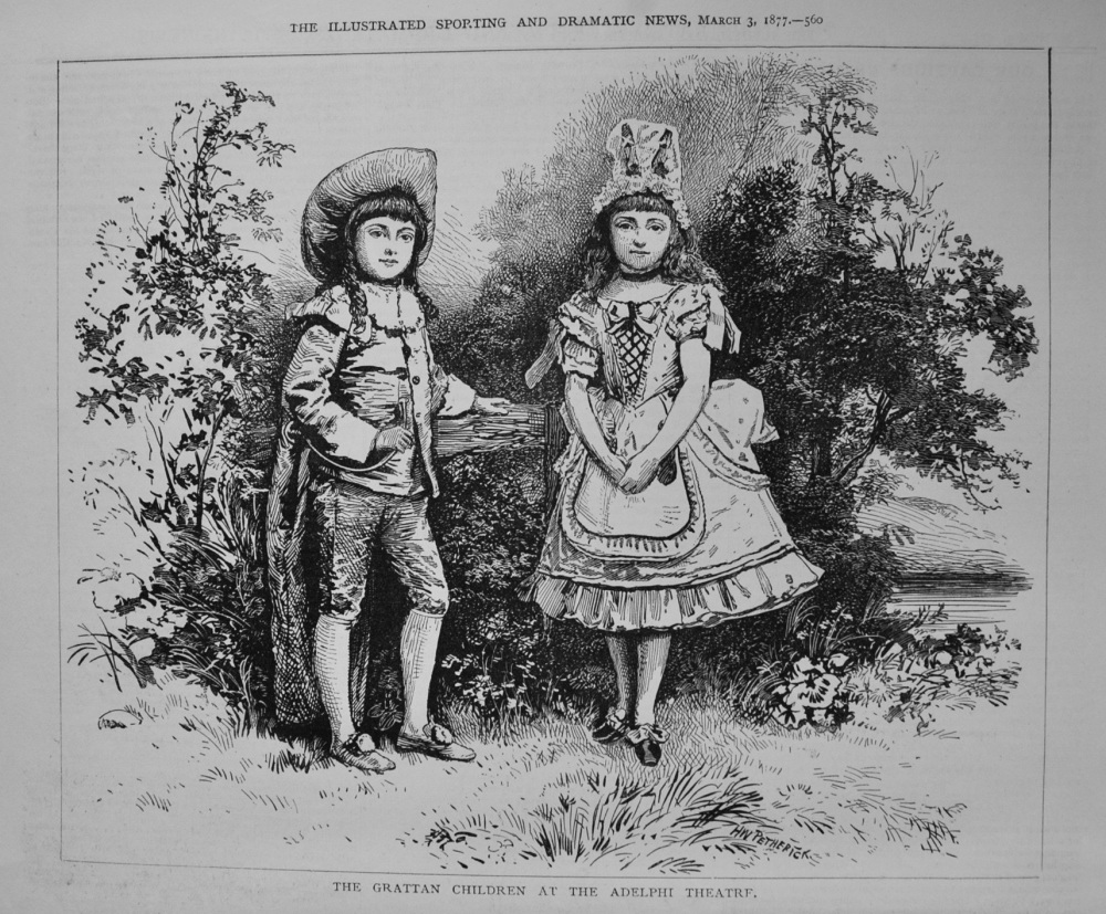 The Grattan Children at the Adelphi Theatre. 1877