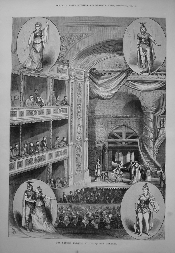 The Chinese Embassy at the Queen's Theatre. 1877