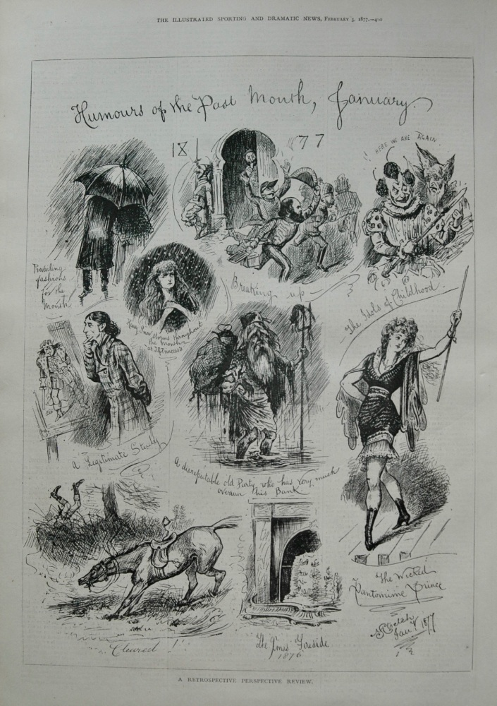 Humours of the Past Month January 1877.