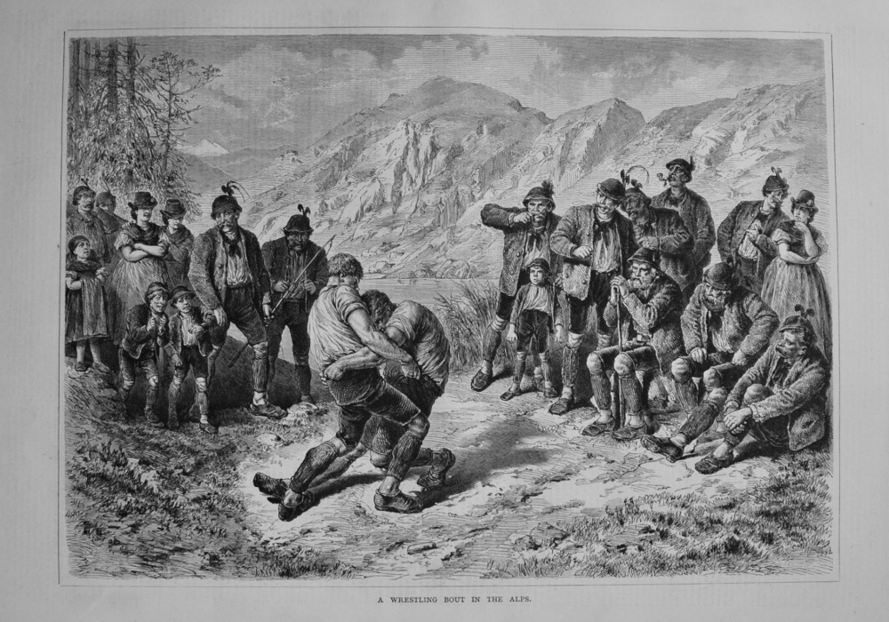 A Wrestling Bout in the Alps. 1877