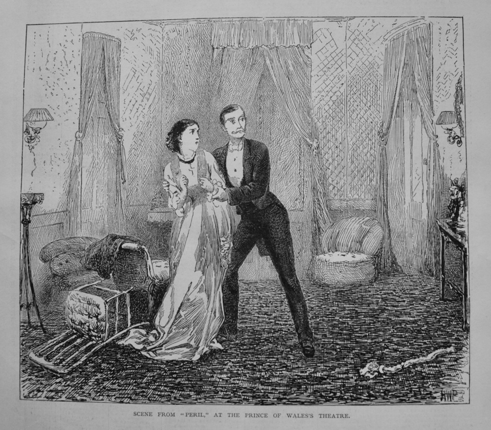 "Scene from ""Peril,"" at the Prince of Wales's Theatre. 1877"