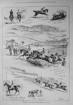 The Castle Club Steeplechases in the Isle of Wight. 1876